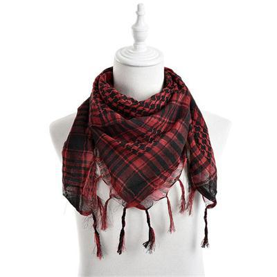 100*100 Cm 6 Farben Frauen Männer Checkered Arabischen Grid Neck Keffiyeh Palästina Schal Wrap