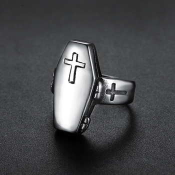 Vampire Casket Cross Ring2