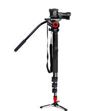 Aluminum Professional flexible monopod Portable camera tripod for dslr digital camera camcorder use extendable single leg tripod