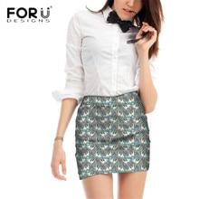 FORUDESIGNS Cocker Spaniel Flower Printing Women Mini Skirts Ladies Cartoon Pattern Fashion for Females Cute Puppy Bottom