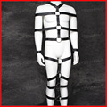 2016 Leather full body bandage leg restraint handcuffs for sex male bondage harness sex slave Alternative sex toys for couple
