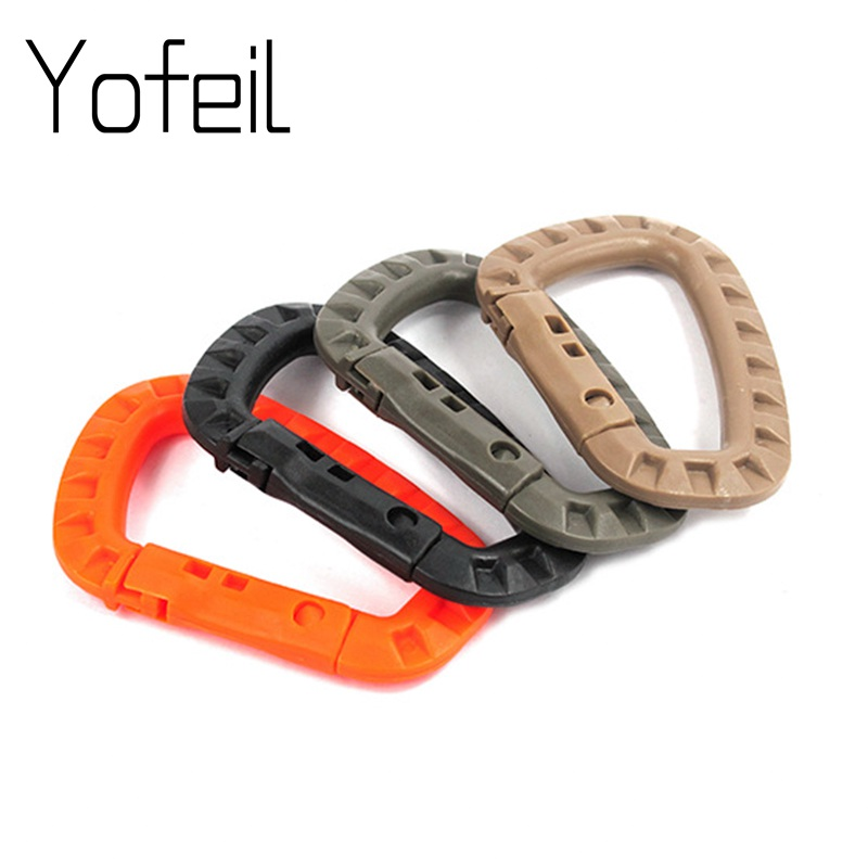 Outdoor Medium Tactical Carabiner ITW Molle Buckle Hook Backpack Molle System D Buckle Military Camping Climbing Accessories