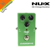 NUX OD-3 VINTAGE overdrive Guitar pedal Tube screamer Clásico Tubo de sonido tono Cálido y suave verdadero libre gratis