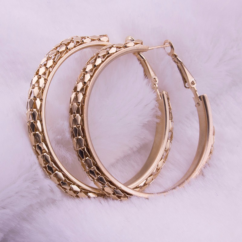 HTB14TohOFXXXXXrXFXXq6xXFXXX5 - Simple Fashion Style 5CM Big Hoop Earrings Jewellery for Women Metal Alloy Vintage Round Earring