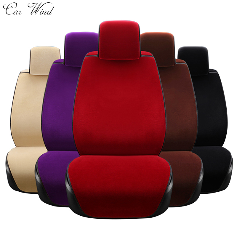 car wind Plush Plush Universal car seat cover For lada granta fiat palio mazda toyota mitsubishi pajero 2 vw polo car accessory yuzhe leather car seat cover for mitsubishi lancer outlander pajero eclipse zinger verada asx i200 car accessories styling