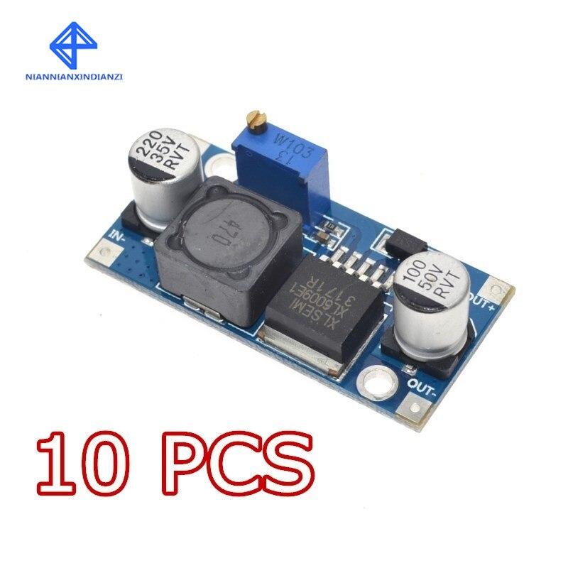 10PCS XL6009 DC-DC módulo de saída do módulo módulo Impulsionador da fonte de alimentação é ajustável Super LM2577 módulo step-up