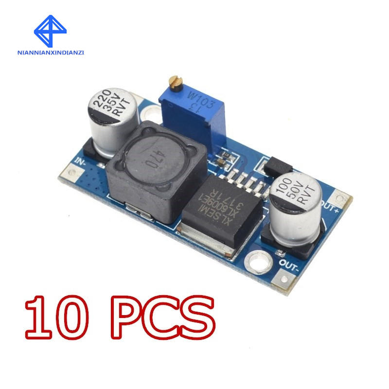 10PCS XL6009 DC-DC Booster Module Power Supply Module Output Is Adjustable Super LM2577 Step-up Module