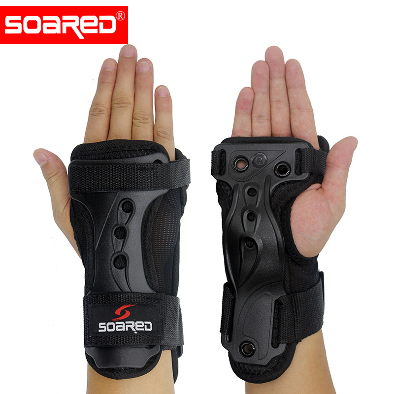 Skiing Wrist Protector Hand Brace Support Adjustable EVA Pads Hand Guards Palm Support Sprain Wristbands 1 Pair