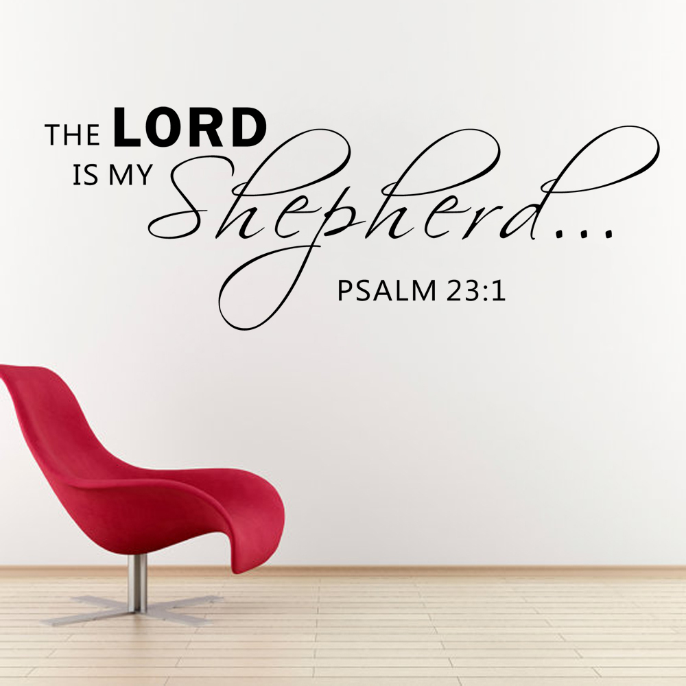 Psalms wall decals christian wall decals ine walls - The Lord Is My Shepherd Psalm 23 1 Scripture Vinyl Lettering Bible Verse Spiritual