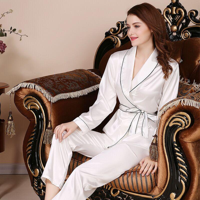 Kimono Satin Silk Pijama Mujer Pajamas Women Pyjama Femme Sleepwear Feminino Pajama