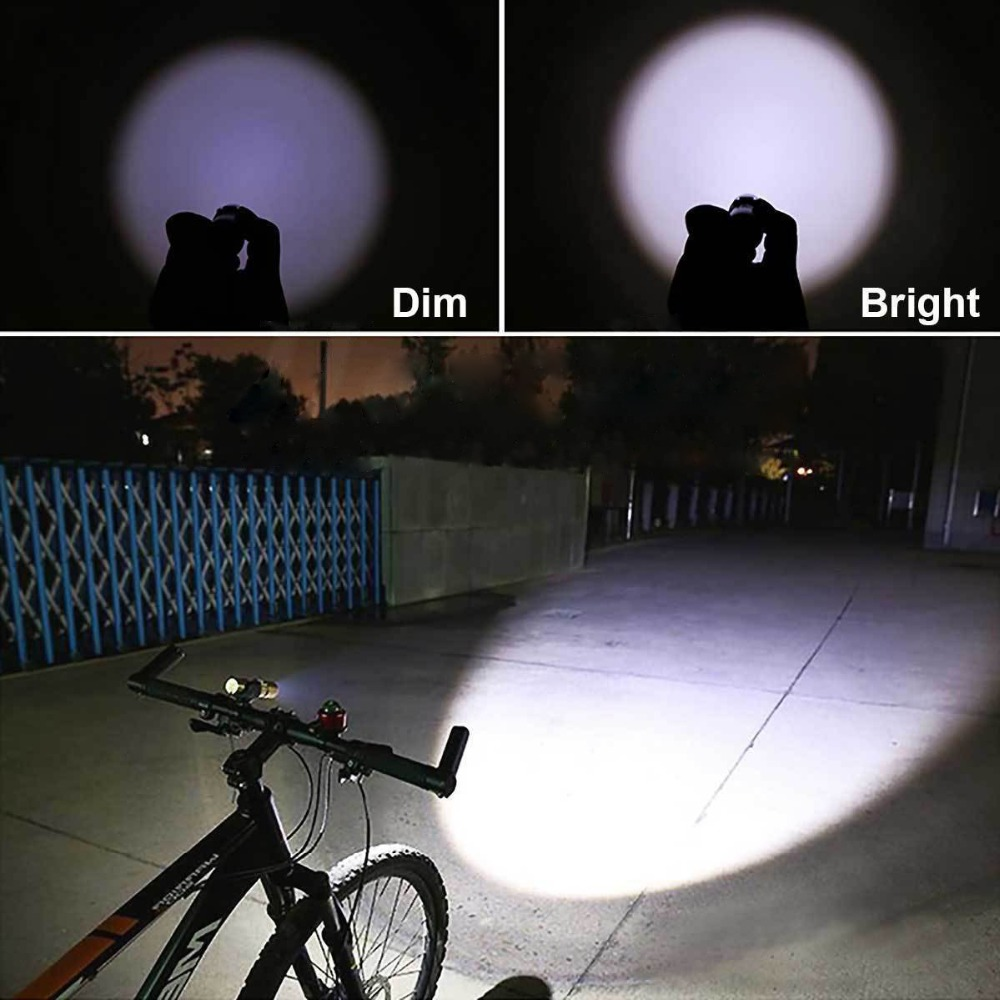 Image 5 - USB Rechargeable LED flashlight Handy Torch Light Hunting   for MTB Bike Bicycle Cycle Head Front Light Camping-in LED Flashlights from Lights & Lighting