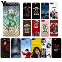 """Yinnoda ривердейл """"South Side serpents"""" силиконовый черный чехол для телефона для Apple iPhone 8, 7, 6, 6S Plus, X XS Макс 5 5S SE XR мобильных телефонов"""