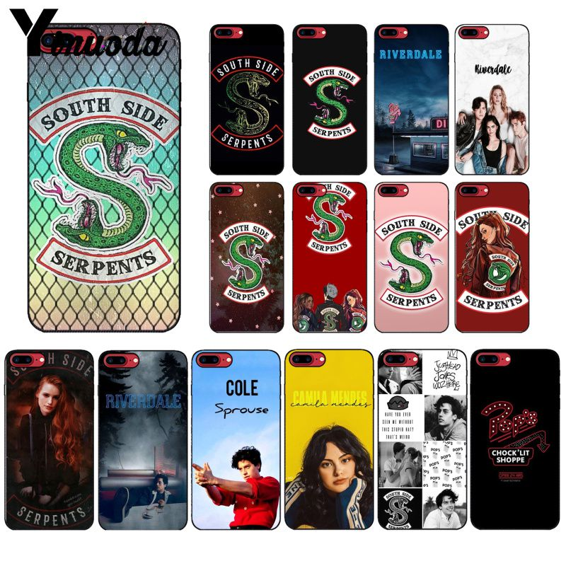 Yinnoda <font><b>Riverdale</b></font> South Side Serpents Silicone Black Phone <font><b>Case</b></font> for Apple <font><b>iPhone</b></font> 8 7 <font><b>6</b></font> 6S Plus X XS MAX 5 5S SE XR Cellphones image