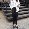 Kesebi J2FE220#8357 2016 Autumn Winter Female Casual Plus Size High Waist Pants Women Thick Warm Full Length Straight Trousers