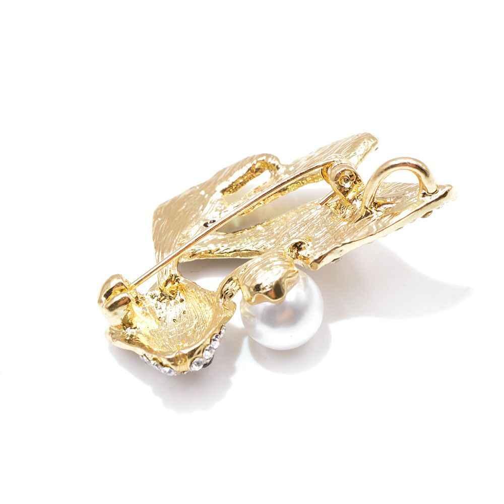 Юный тюльпан горный хрусталь золотые броши Рыба для женщин эмалированная брошь с животным булавкой модные украшения Летний стиль платье аксессуары подарок