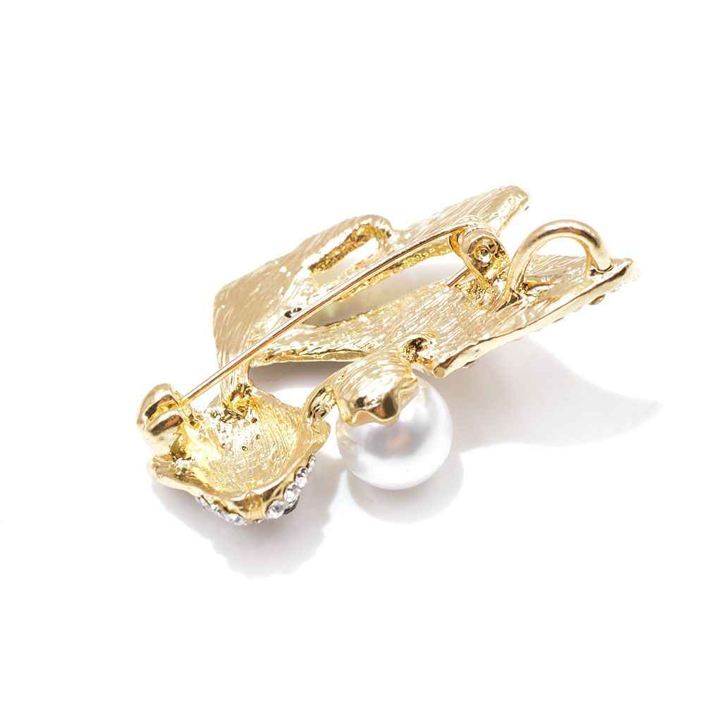Muda Tulip Berlian Imitasi Ikan Emas Bros untuk Wanita Enamel Hewan Bros Pin Fashion Perhiasan Gaya Musim Panas Gaun Aksesoris Hadiah