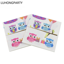 20pcs Colorful Owl Balloon cake Paper Napkin for Party Decoration Supplies Kids Birthday LUHONGPARTY