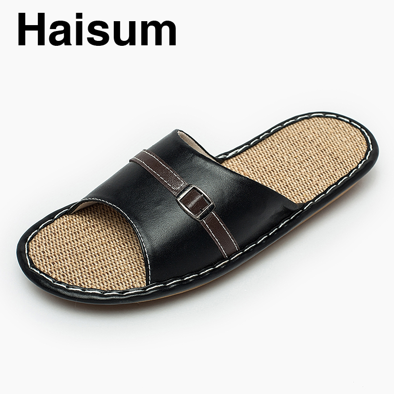 Flip Flops Hot Sale Zapatos Hombre 2018 New Men Summer Anti-skid Sheepskin Slippers Indoor Home Wood Floor Cooler Tb010
