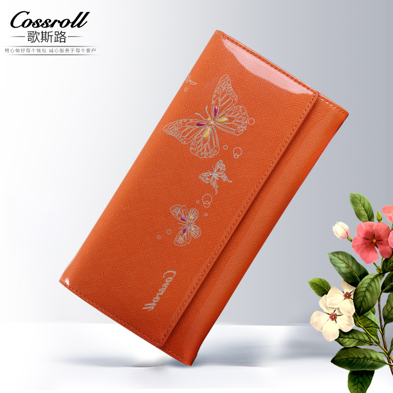 2017 New Design Cowhide Leather Wallet Women Luxury Brand Fashion Butterfly Pattern Long Womens Wallets and Purses Ladies Clutch ботинки findlay findlay fi020awsnr53