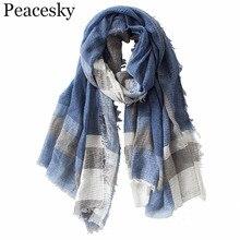Британский стиль, клетчатый мужской шарф, зима, Модный классический для мужчин и женщин, имитация кашемира, шарфы с кисточками