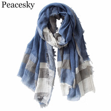 British Style Plaid Men Scarf Winter 2018 Fashion Classical for and Woman Imitation Cashmere Scarves Tassel