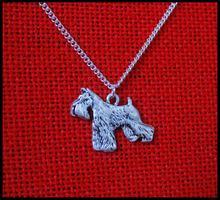 Оптовая продажа рельефное ожерелье с изображением собаки шнауцера