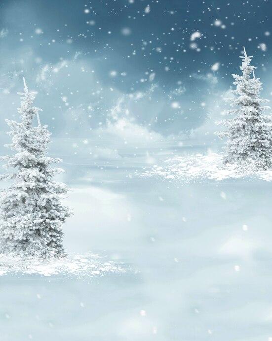 Winter Night Iced Tree Silver Snow Flakes 5x7ft Christmas Background Photo Studio Props Vinyl Photography Backdrops osborne mary pope magic tree house 5 night of the ninjas