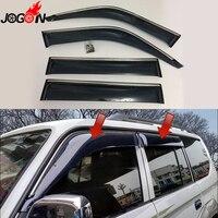 For Toyota Land Cruiser LC80 FJ80 Window Sun Rain Visors Vent Shade Deflector Guard Weather Shield 4PCS