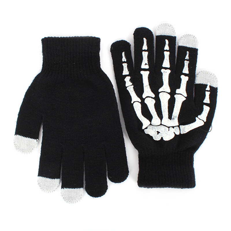 Fashion Style Winter Warm Full Finger Unisex Ghost