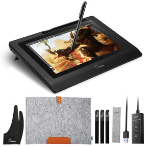 """Image 1 - Parblo Coast10 10.1"""" IPS Graphic Monitor Kit  For Design+ Battery free Pen +Wool Liner Bag+Two Finger Glove+ Stylus Sleeve"""