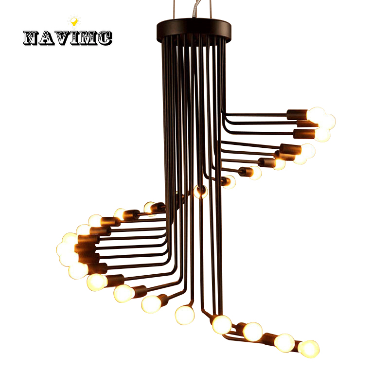 American country loft retro pendant light minimalist Coffee Museum wrought iron bar restaurant spiral staircase lamp E14 bulb 1 bulb nordic retro wall lamp bedside light wrought iron lamps shade american country style restaurant bar industrial pendant