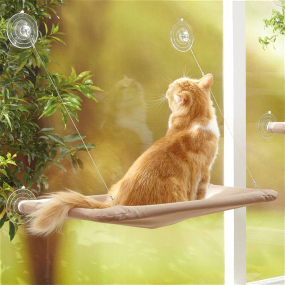 Cat Basking Window Hammock Sofa Perch Cushion Bed Hanging Shelf Seat Window Mounted Cats Hanging Bed