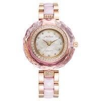 Melissa Lady Для женщин кварцевые часы Японии час Shell модные Керамика браслет со стразами роскошные стразы для девочек подарок на день рождения