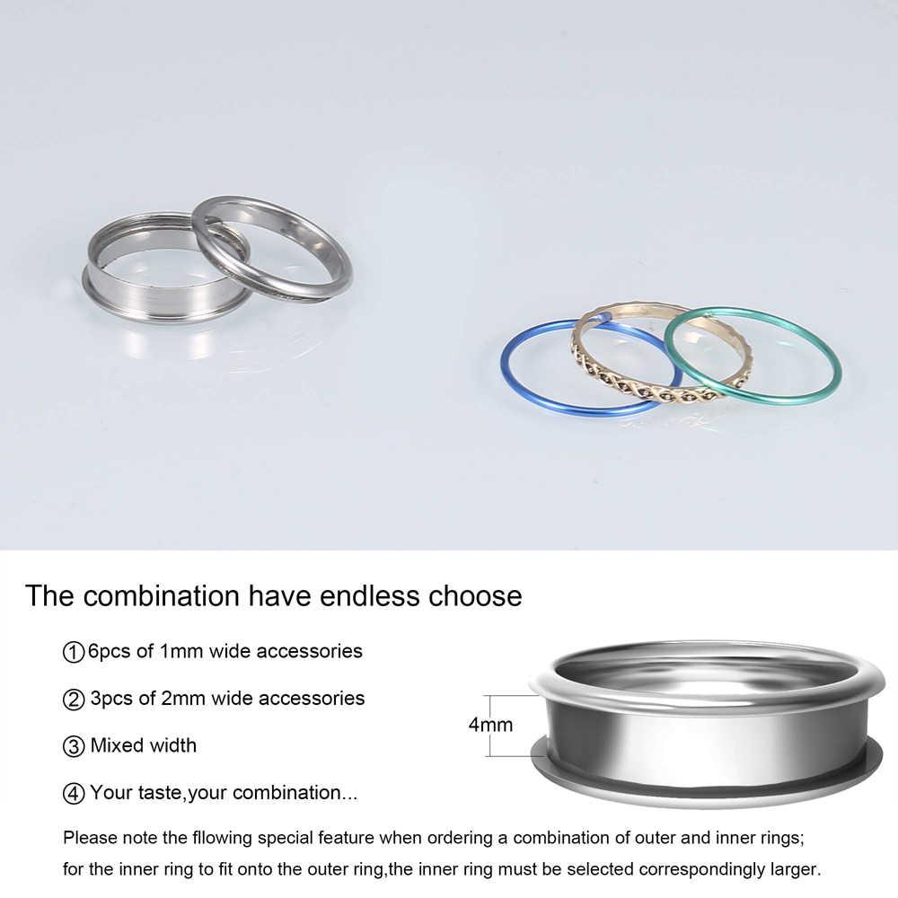 Cremo แหวนผู้หญิง Arctic Symphony แหวน Minimalist Dainty Original Multi Filled แหวนประณีตแหวนแต่งงานสแตนเลส