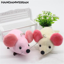 2PCS Cute Plush Mouse Toys Small Pendant Mini Creative New Year Mascot Soft Stuffed Big Ear Mice Toy For Kid Children Gifts 10CM