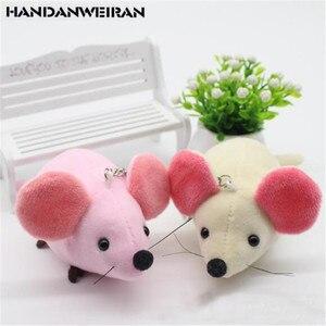 2PCS Cute Plush Mouse Toys Small Pendant Mini Creative New Year Mascot Soft Stuffed Big Ear Mice Toy For Kid Children Gifts 10CM
