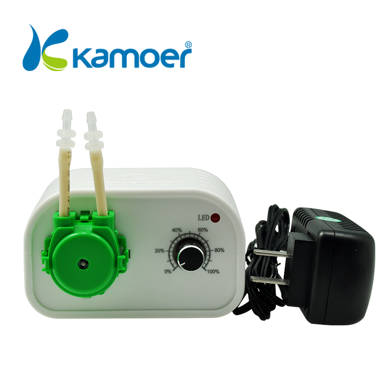 Kamoer NKCP 24 V petite pompe péristaltique intelligente (4 couleurs, débit réglable, utilisation facile, Supports de lumière courante)