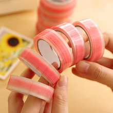 10pcs 15mm*10m The lovely pink lucency lace tapes The decoration tapes of photo album notebook diary