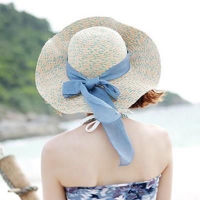 Verão palha praia chapéus para mulheres, Grande brim chapéus de sol, Chapéu feminino, De chapéus