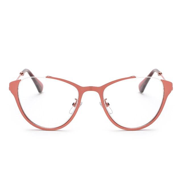 58fa4946d99 Laura Fairy Fashion Part Rimless Design Cateye Glasses Eyewear Women  Optical Spectacle Frame Female monturas de