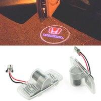2pcs For Honda Accord Crosstour Pilot Ghost Shadow Welcome Light Door Logo Projector Light