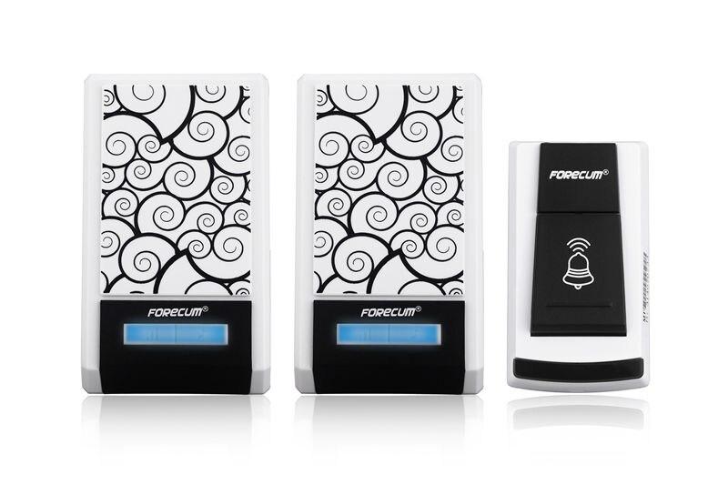 36 Chimes Music Digital Doorbell Ring Waterproof Wireless Remote Door Bell One Transmitter + Two Receivers Smart Home Doorbells