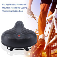 PU Bicycle Saddle High Elastic Waterproof Mountain Road Bike Cycling Soft Thickening Saddle Seat Cycle Accessories