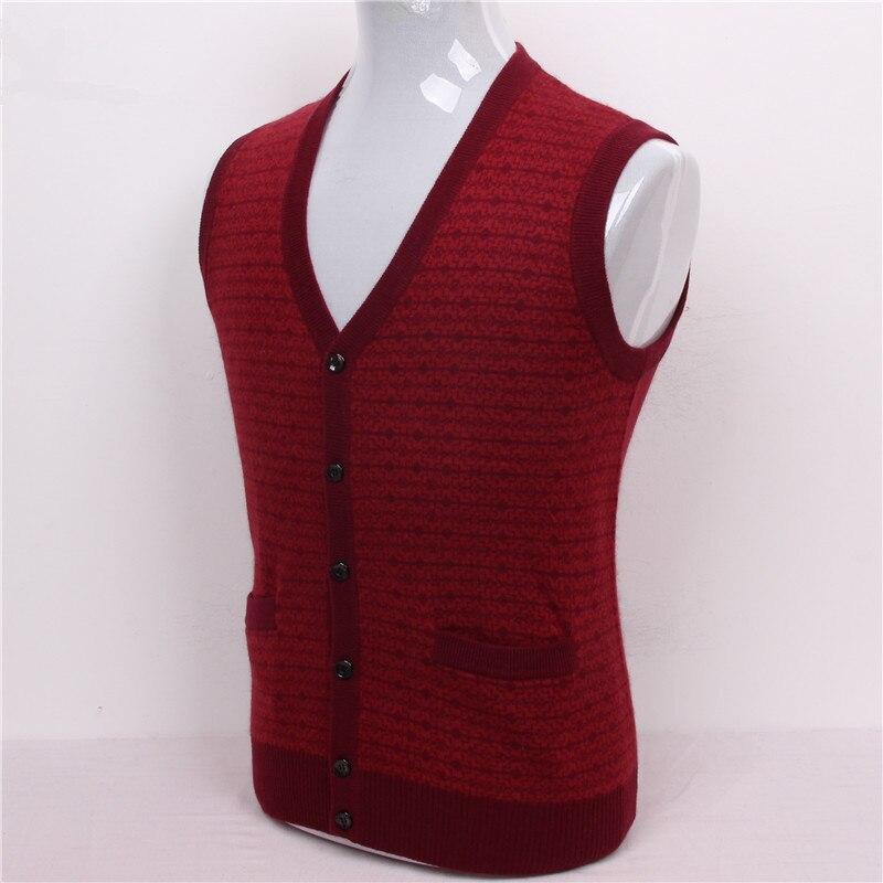 ec6dd5c00 100% cabra caxemira dos homens boutique jacquard camisola colete cardigan 3  cores tamanho grande S 105 3XL 130 em null de Dos homens de Roupas no ...