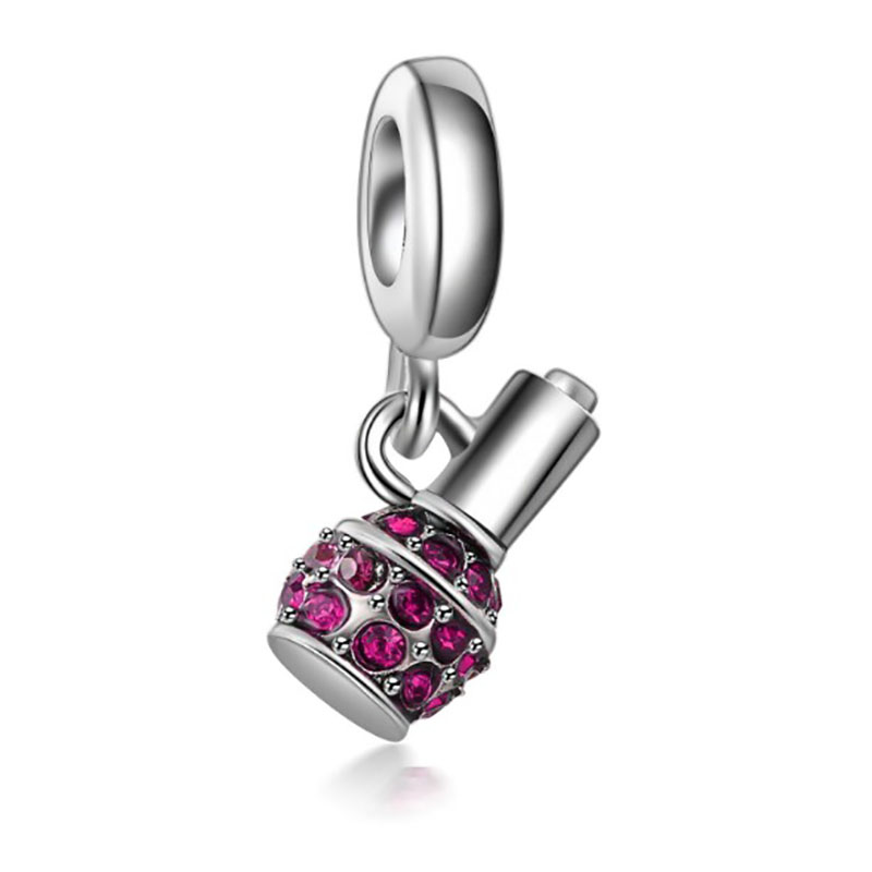 Fit Pandora Bracelet Crystal Perfume Charms Princess Bijoux Silver Perfumes Mujer Originales Necklace Charm Jewelry Beads in Charms from Jewelry Accessories