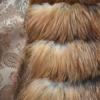 2019 new ladies natural fire fox fur coat winter warm fashion European and American street style