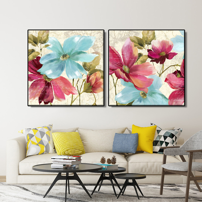 canvas artwork print Portray oil portray Classic Residence Decor on the Wall for lounge 2 Piece Purple blue flowers and Butterfly portray paint, work japan, portray songs,Low-cost portray paint,Excessive...