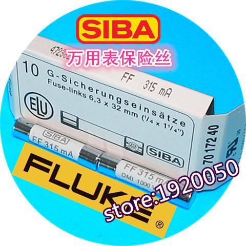 FLUKE Insulation Tester Fuse Tube FF315mA 315mA 1000V F1508/1503/1507  6.3*32