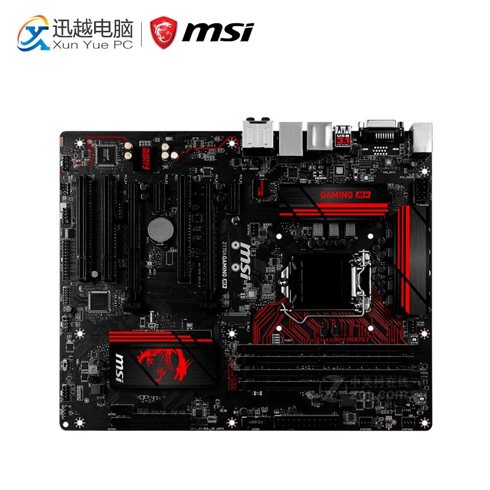 купить MSI Z170A GAMING M3 Desktop Motherboard Z170 Socket LGA 1151 i3 i5 i7 DDR4 64G SATA3 USB3.0 ATX онлайн