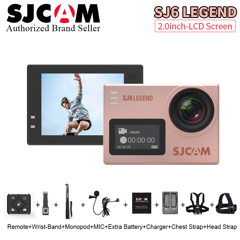 Galleria fotografica Original SJCAM SJ6 Legend Action Camera Sports DV 4K Wifi 30m Waterproof 1080P Ultra HD 2